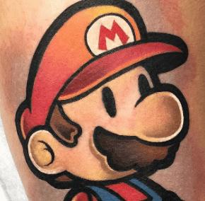 , Tattoo Super Mario – Le guide et les photos  (En images)