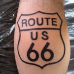 tatouage de la route 66