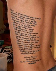 tatouage de poème