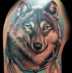tatouage de loup
