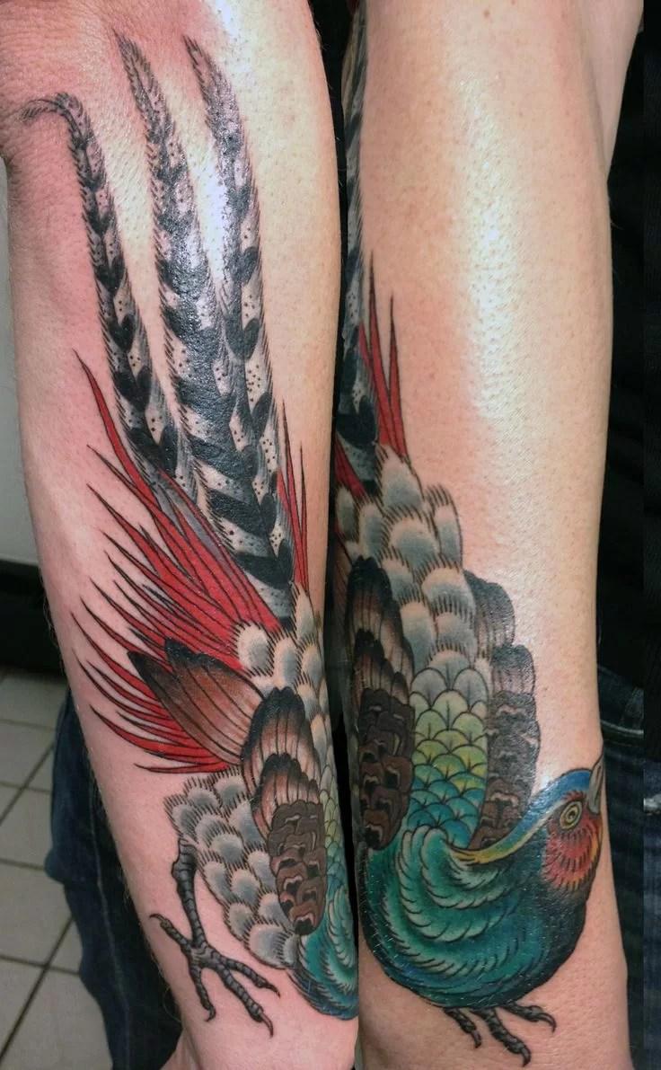 Cool Pheasant Tattoo Jpg