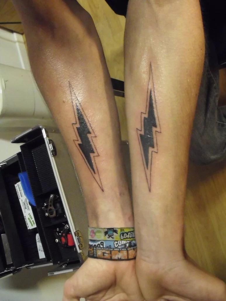 Lightning Bolt Arm Tattoo Tattoomagz Tattoo Designs