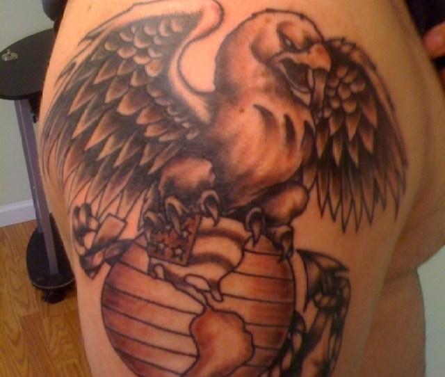 Eagle Globe Anchor Tattoo Ideas