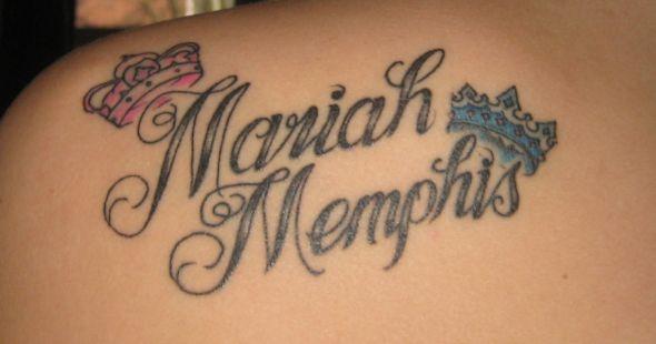 Gorgeous Kids Name Tattoo Design Picture Tattoomagz