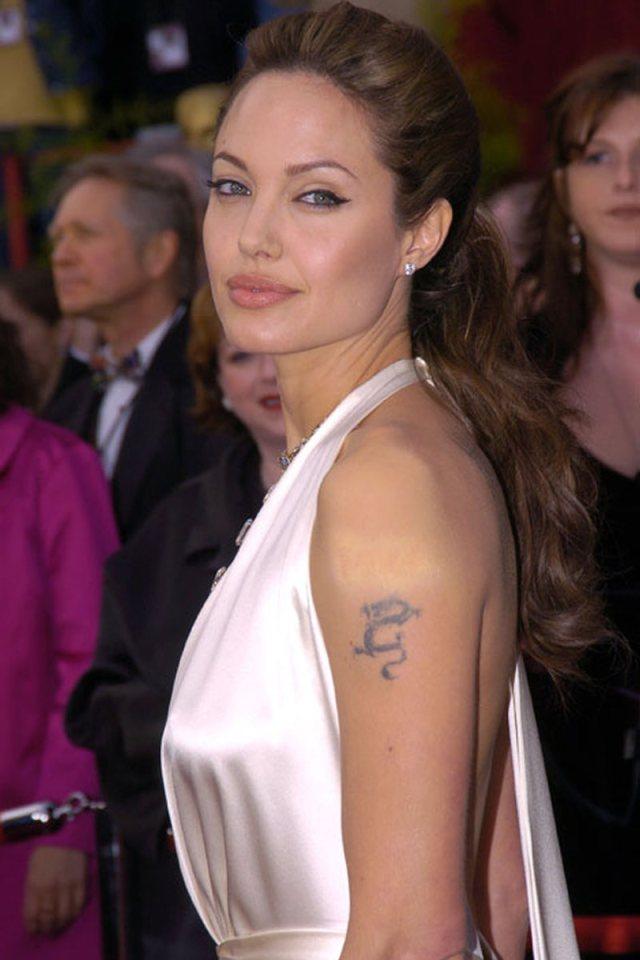 Angelina jolie small dragon tattoo - Tattoos Book - 65.000 ...