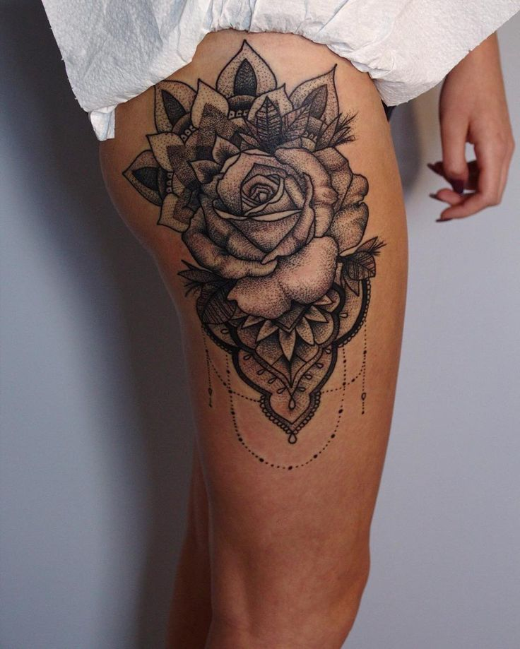 Tattoo Trends Rose Tattoo Large Thigh Design The Most Ideas And Designs
