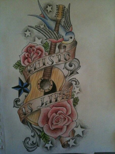 Tattoo Trends Acoustic Guitar Tattoos For Men Bing Ideas And Designs