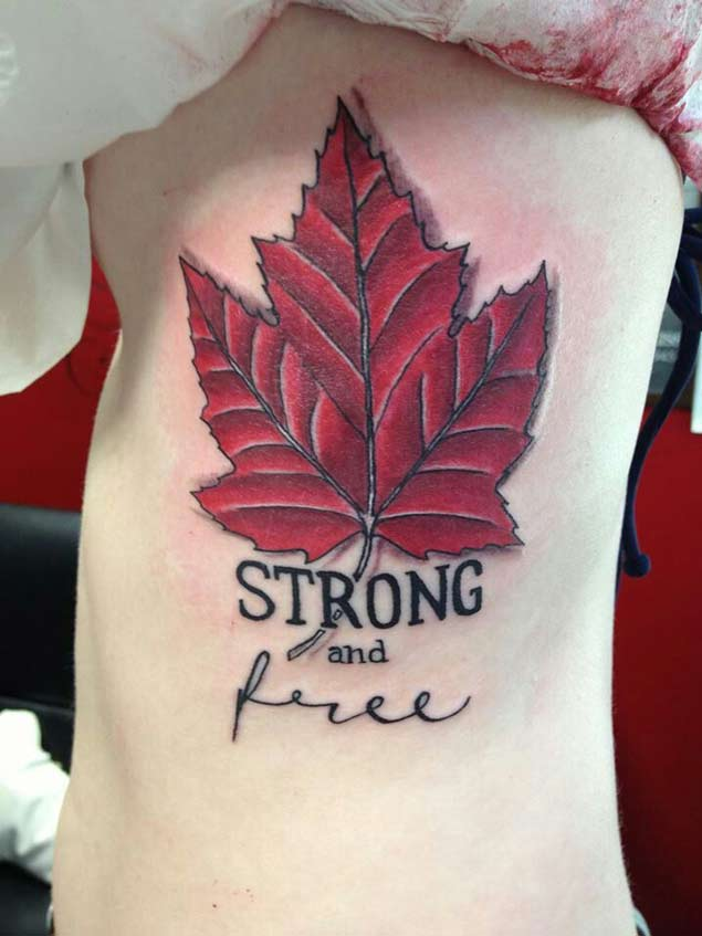18 Patriotic Canadian Flag Tattoos Tattooblend Ideas And Designs