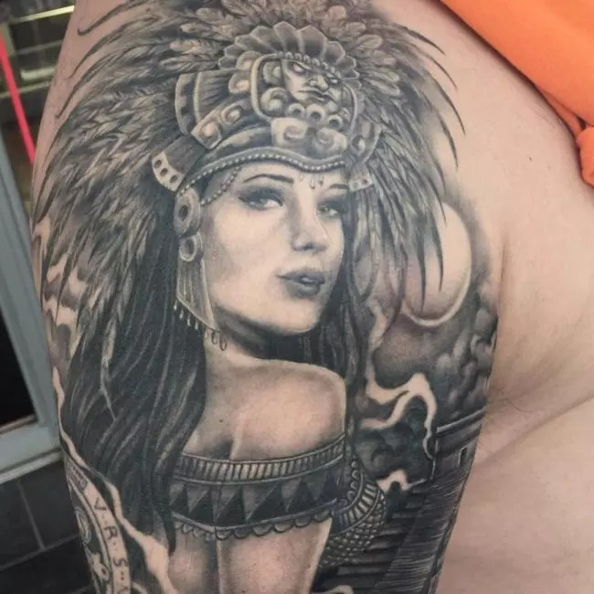 100 Best Aztec Tattoo Designs Ideas Meanings In 2019 Ideas And Designs