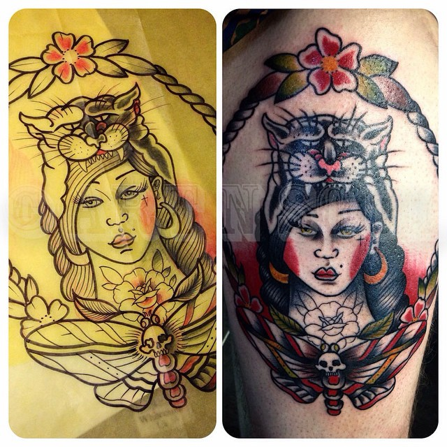 A Cool Colour Traditional Style Tattoo By Aaron Ideas And Designs