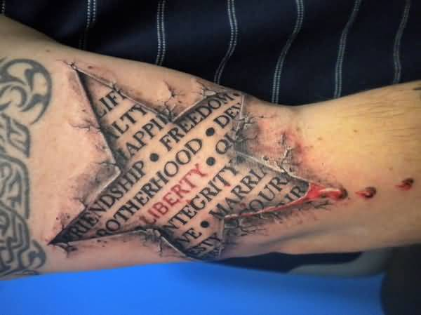 3D Ripped Skin Tattoos Images Pictures Tattoos Hunter Ideas And Designs