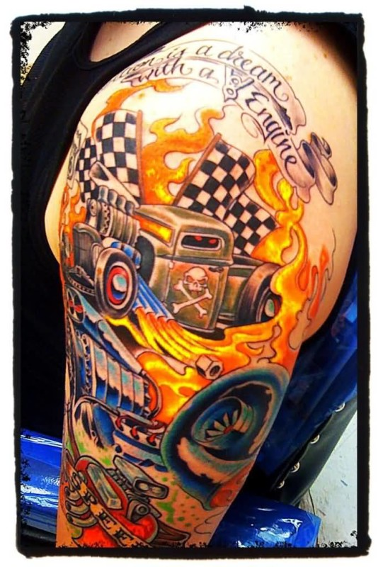 Car Sleeve Tattoo Ideas And Car Sleeve Tattoo Designs Page 2 Ideas And Designs
