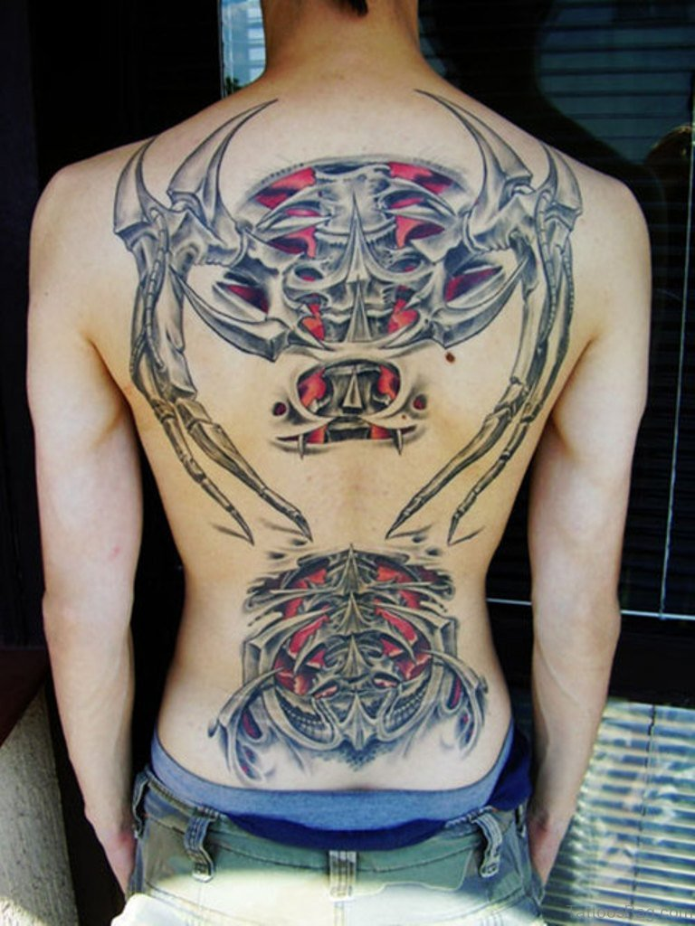 84 Amazing Biomechanical Tattoos On Back Ideas And Designs