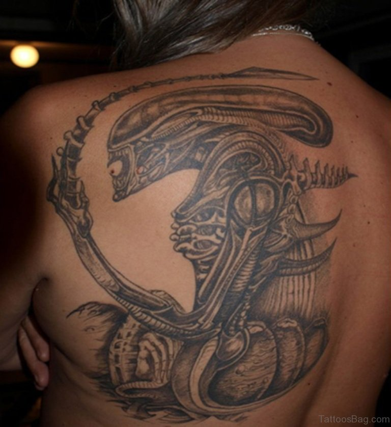 64 Great Alien Tattoos On Shoulder Ideas And Designs