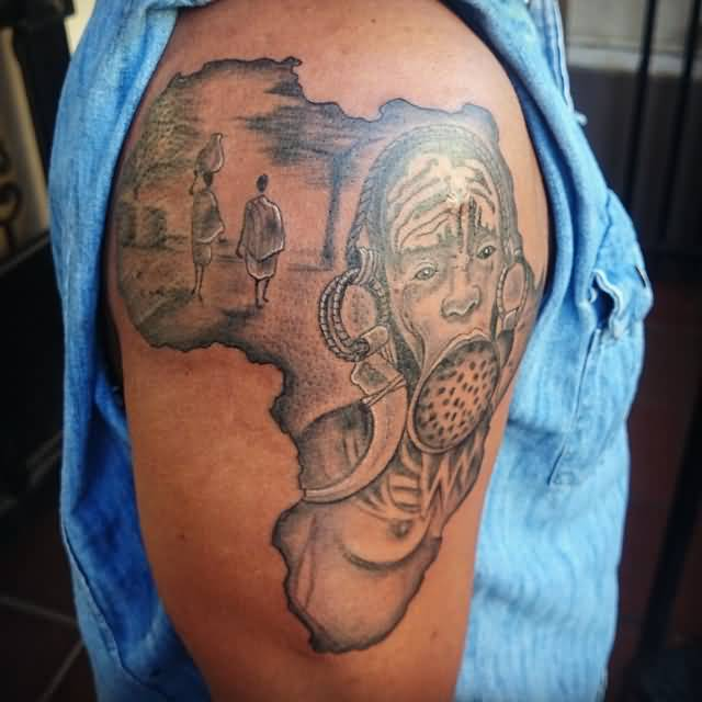 Africa Map Tattoos African Continent Map Tattoos Designs Ideas And Designs