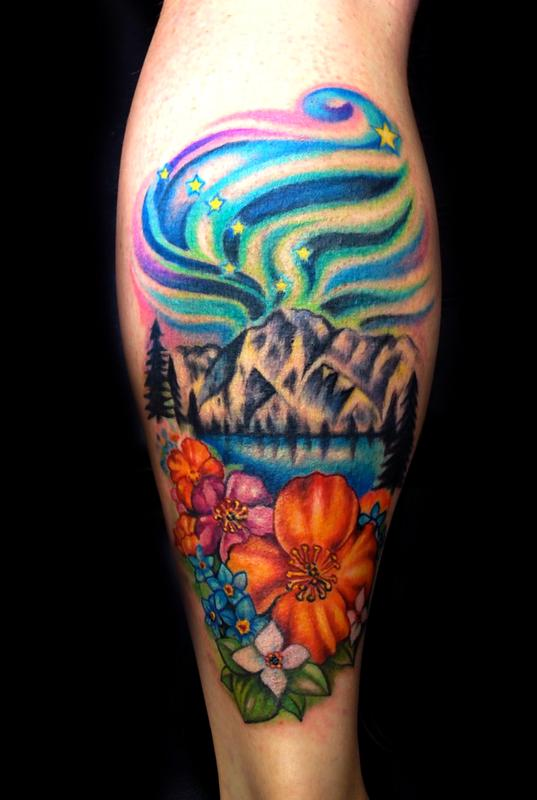Off The Map Tattoo Tattoos Flower Alaska Ideas And Designs