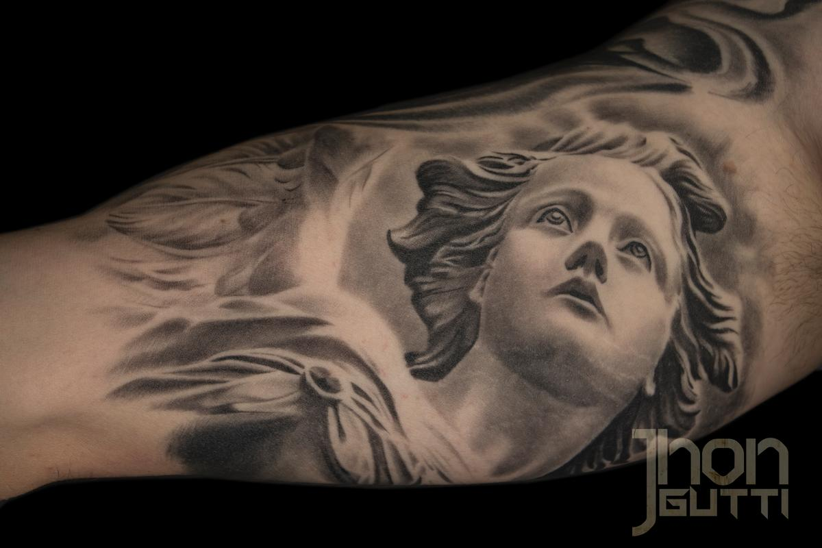 Angel Statue By Jhon Gutti Tattoos Ideas And Designs