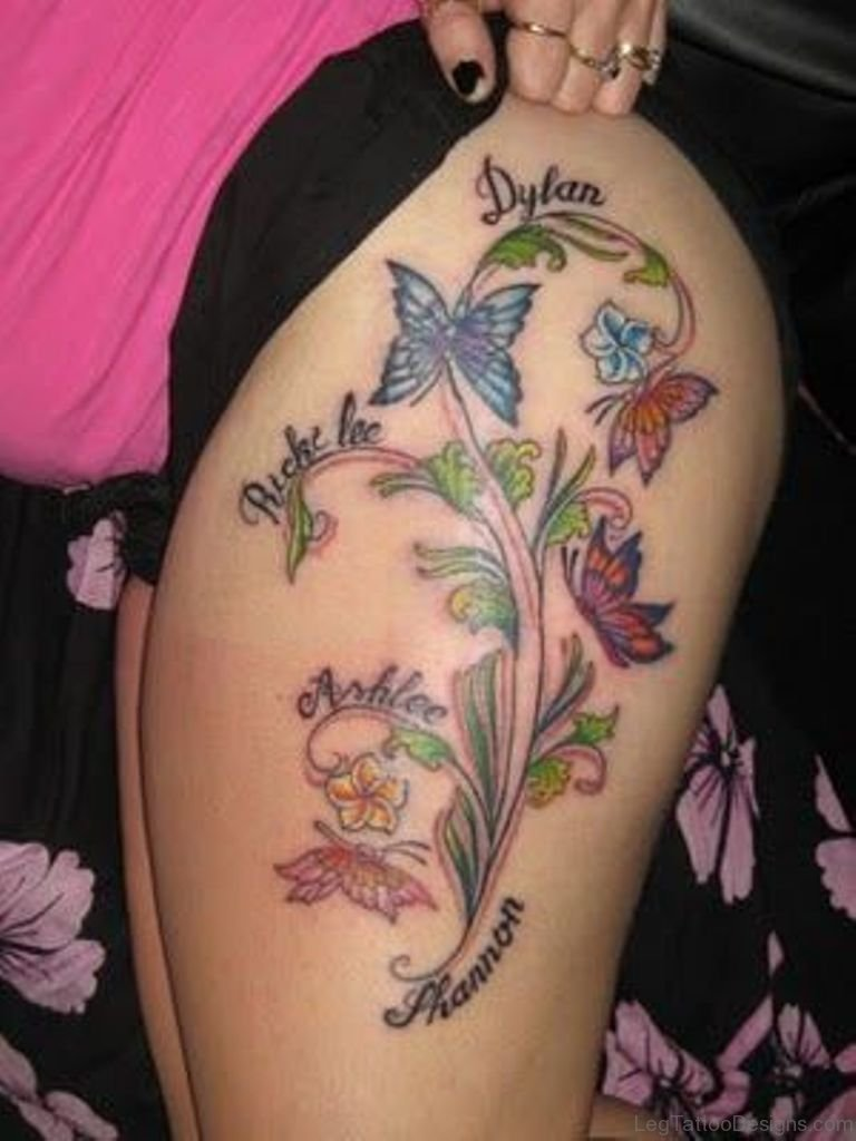71 Outstanding Butterfly Tattoos On Thigh Ideas And Designs