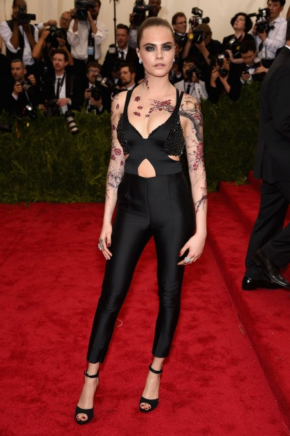 Were Any Of Cara Delevingne's Intricate Met Gala Tattoos Ideas And Designs
