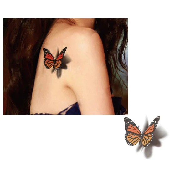 3D Butterfly Temporary Tattoo – Tatitoo Ideas And Designs