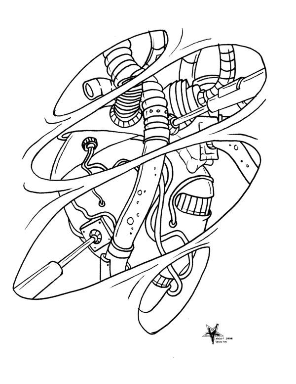 Biomechanical Art Coloring Pages Ideas And Designs