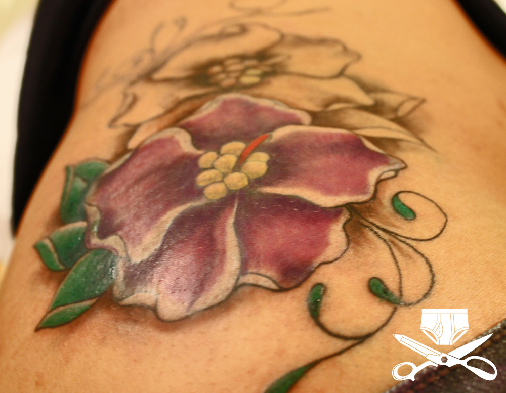 African Violet Tattoo On Side Hautedraws Ideas And Designs
