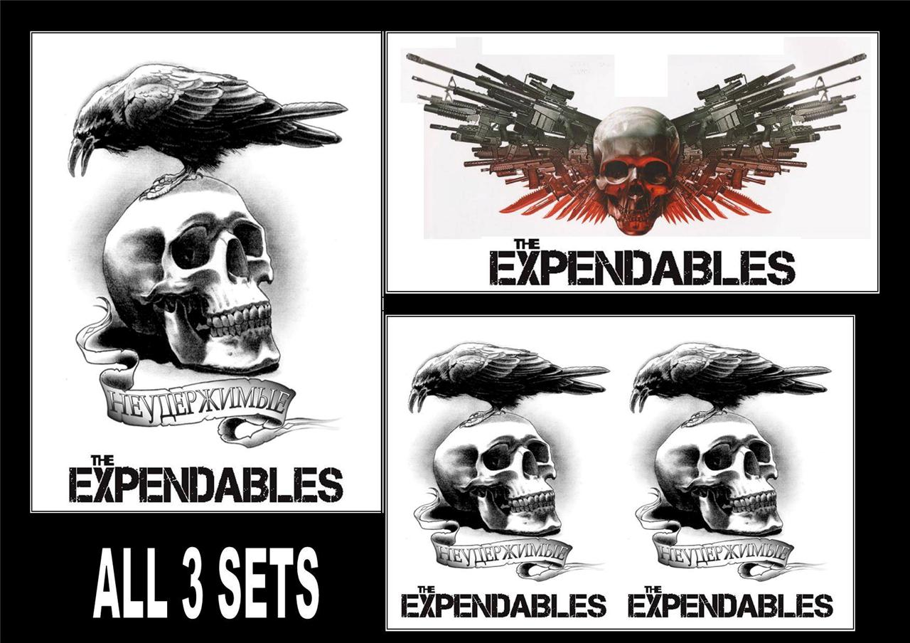 The Expendables Temporary Tattoos Large Arm Forearm Back Ideas And Designs