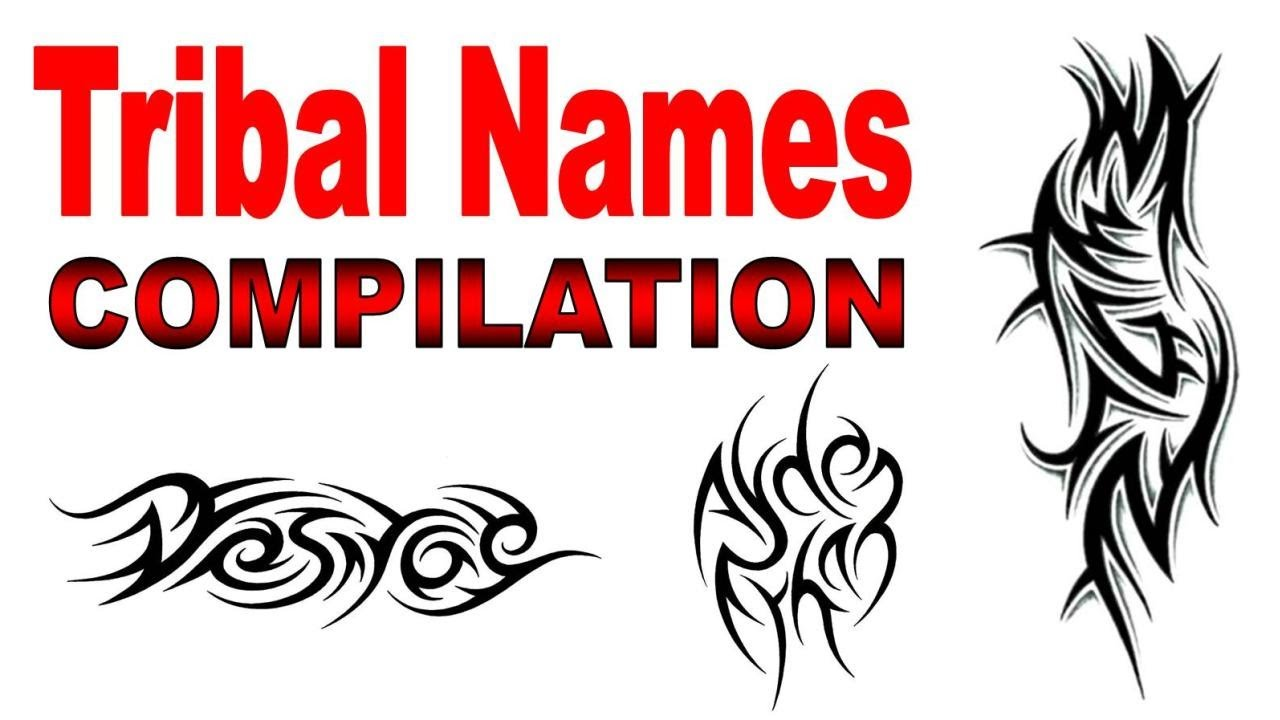 Tribal Names Tattoo Designs Compilation By Jonathan Ideas And Designs