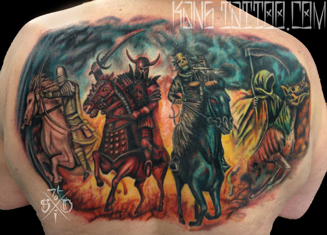 Four Horsemen Of The Apocalypse By Kang Of Skin Deep Ink Ideas And Designs