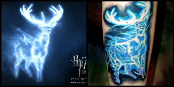 Patronus From Harry Potter Tattoo By Cody Holyoak Aces Ideas And Designs