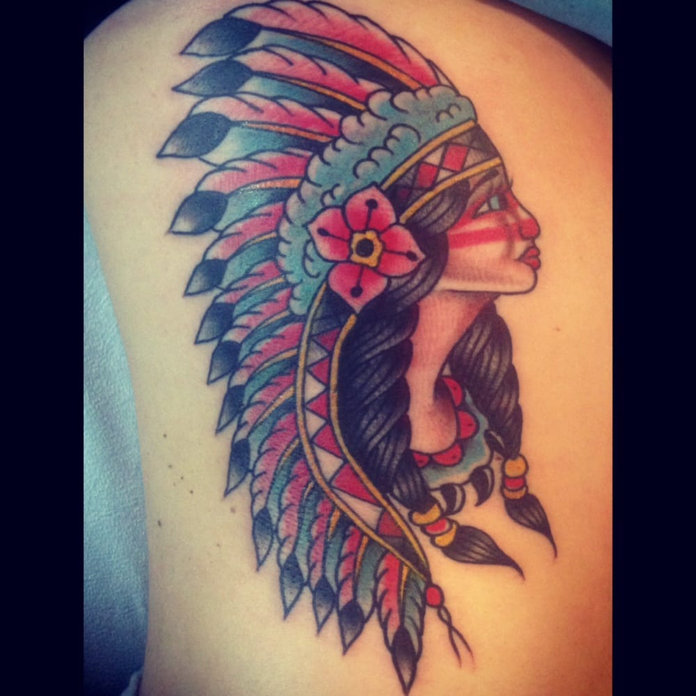 Traditional Indian Tattoo On The Ribs By Alan Yelp Ideas And Designs