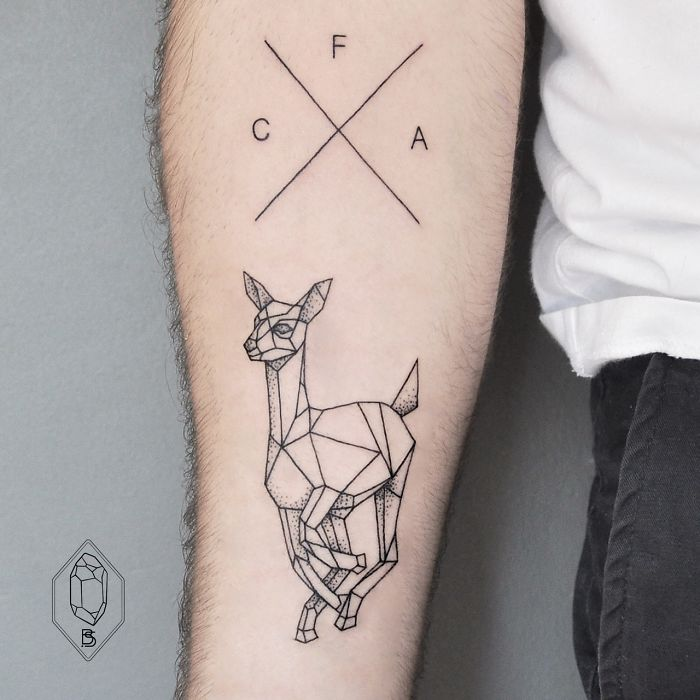 Geometric Line And Dot Tattoos By Turkish Artist Prove Ideas And Designs