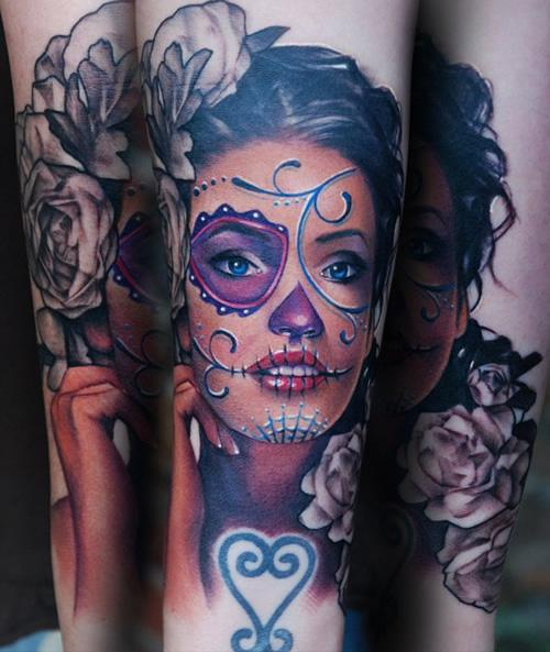 Tattoos Candy Candy Skull Girl Image 750832 On Favim Com Ideas And Designs