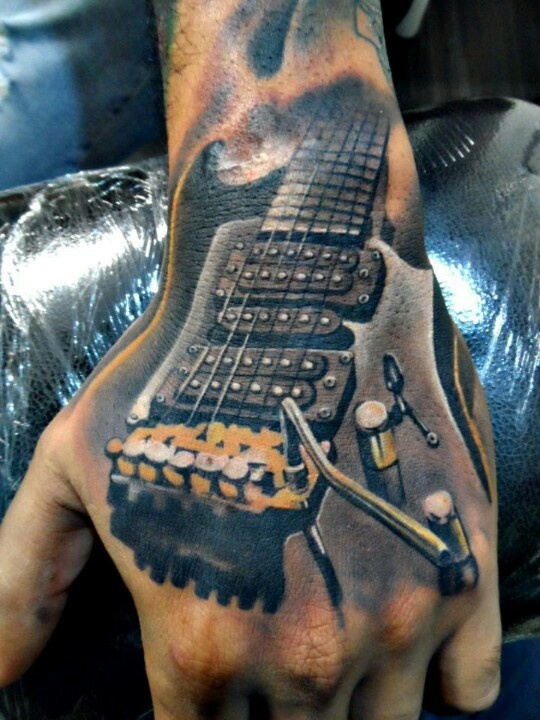 Guitar Tattoo By Leo Rojas Ink Pinterest Ideas And Designs