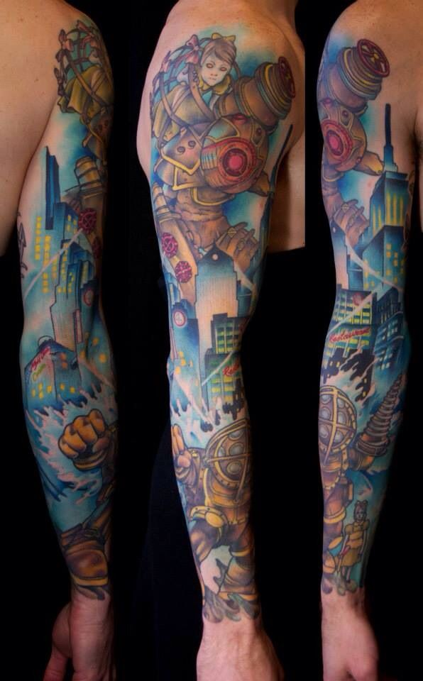 Bioshock Tattoo Tattoos Pinterest Ideas And Designs