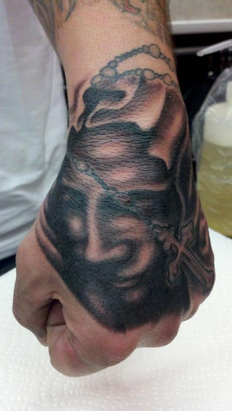 V*Rg*N Mary Rosary Tattoo By Angel Caraballo Tattoos By Ideas And Designs