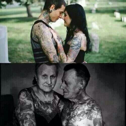Tattooed Couple Young And Old The Beautiful People Ideas And Designs