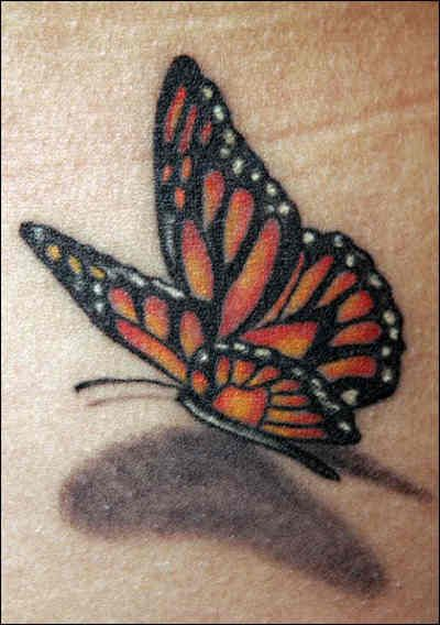 Monarch Wrist Realistic 3D Butterfly Tattoos Pinterest Ideas And Designs