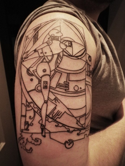 Art Deco Robots Tattoos Favourite Pins Pinterest Ideas And Designs
