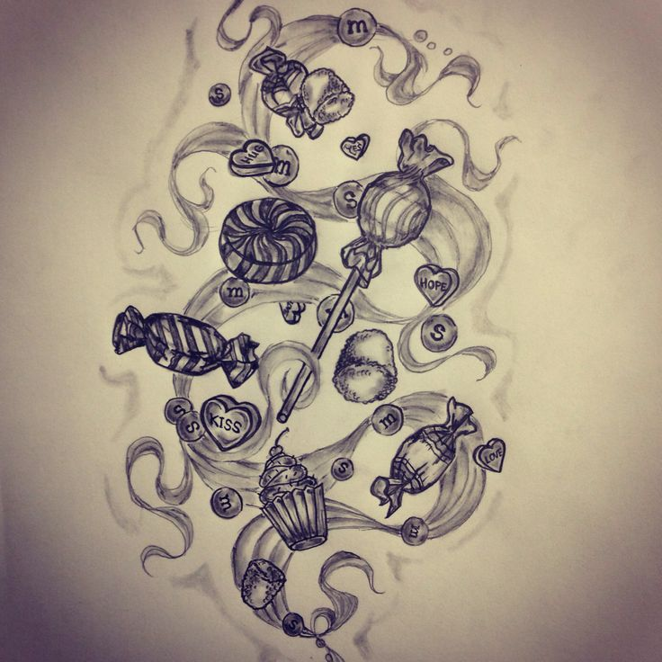 Candy Tattoo Sketch By Ranz Pinterest Ideas And Designs