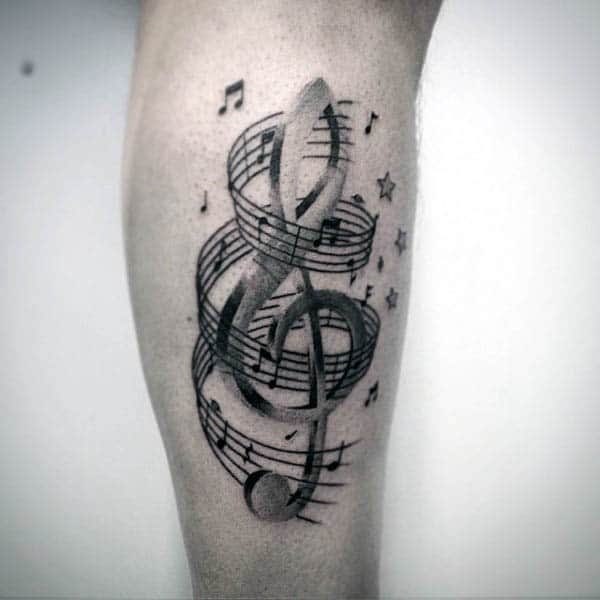 80 Treble Clef Tattoo Designs For Men Musical Ink Ideas Ideas And Designs