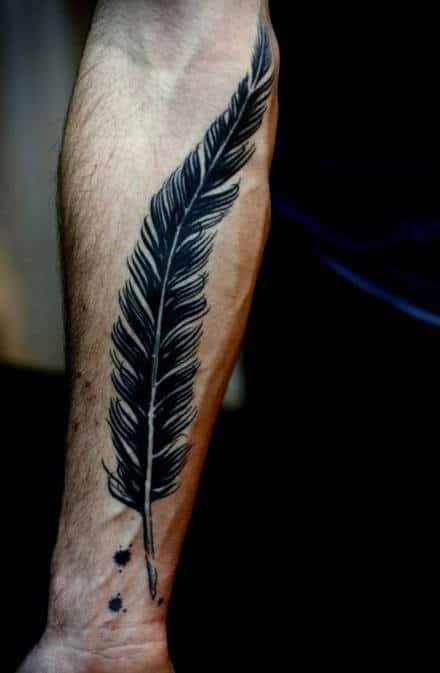 70 Feather Tattoo Designs For Men Masculine Ink Ideas Ideas And Designs