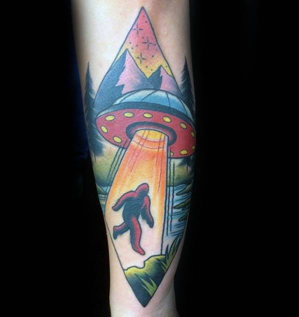 50 Bigfoot Tattoo Designs For Men Mythological Creature Ideas And Designs