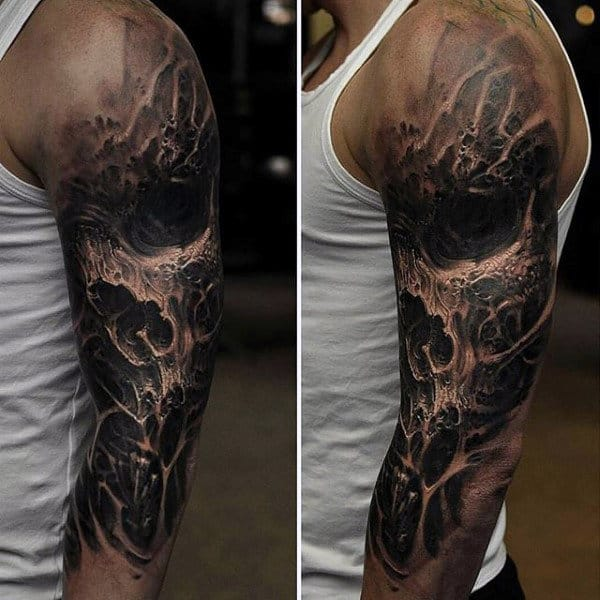 90 Black Ink Tattoo Designs For Men Dark Ink Ideas Ideas And Designs