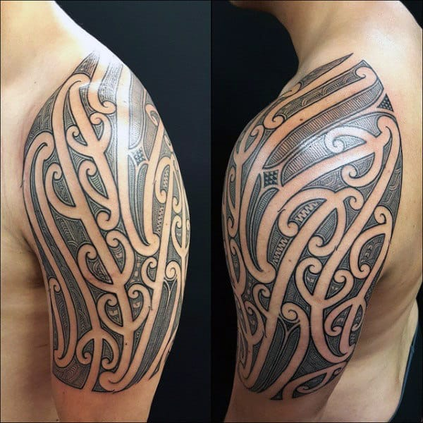 70 Quarter Sleeve Tattoo Designs For Men Masculine Ink Ideas Ideas And Designs