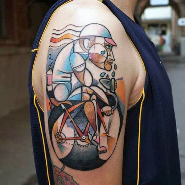70 Bicycle Tattoo Designs For Men Masculine Cycling Ideas Ideas And Designs