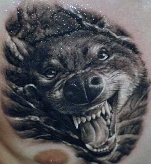 50 Realistic Wolf Tattoo Designs For Men Canine Ink Ideas Ideas And Designs