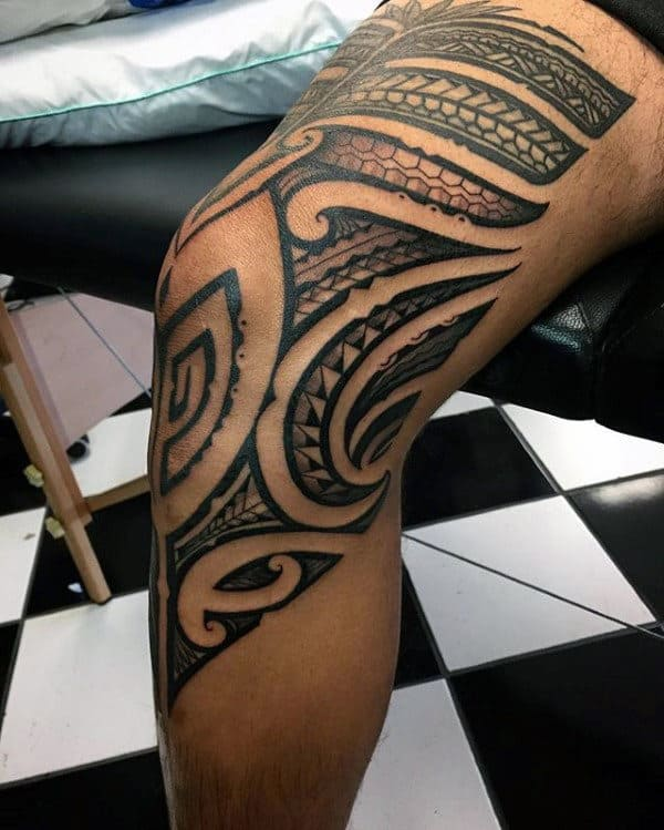 30 Tribal Thigh Tattoos For Men Manly Ink Ideas Ideas And Designs