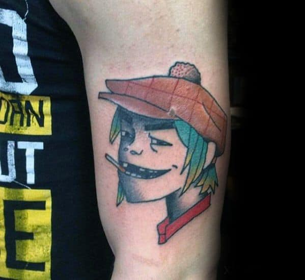 50 Gorillaz Tattoo Designs For Men Music Band Ink Ideas Ideas And Designs