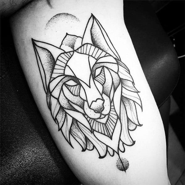 60 Geometric Animal Tattoo Designs For Men Cool Ink Ideas Ideas And Designs